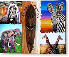 Acrylic Print featuring the painting Auras Of Africa by Donna Proctor