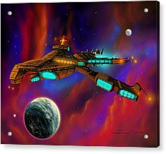 Acrylic Print featuring the painting Auroborus 2015 by James Christopher Hill