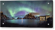 Aurora Above Reinefjord Acrylic Print
