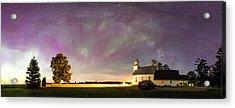 Aurora And Milky Way  Acrylic Print by Lorraine Matti