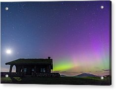 Aurora And Moon From Beech Hill Acrylic Print by Tim Sullivan