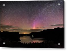 Acrylic Print featuring the photograph Aurora At Lake Billy Chinook by Cat Connor