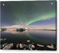 Acrylic Print featuring the photograph Aurora Borealis And Reflection by Wanda Krack