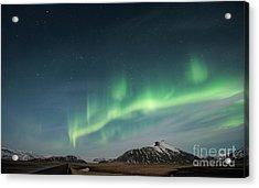 Aurora Borealis Over Iceland Acrylic Print
