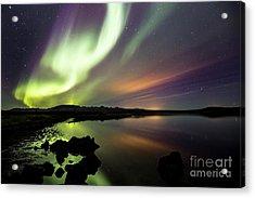 Aurora Borealis Over Thinvellir Acrylic Print