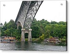 Aurora Bridge Acrylic Print by Tom Dowd