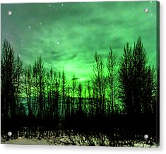 Aurora In The Clouds Acrylic Print