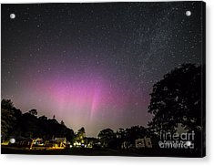 Aurora Over Sagadahoc Bay Campground Acrylic Print