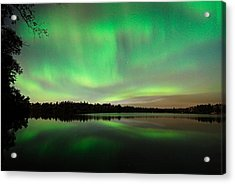 Aurora Over Tofte Lake Acrylic Print