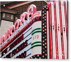 Aurora Theater Marquee Acrylic Print