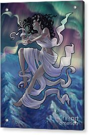 Acrylic Print featuring the digital art Aurora Weaver by Amyla Silverflame