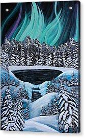 Aurora's Fiery Display Acrylic Print by Barbara Griffin