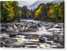 Acrylic Print featuring the photograph Ausable Cascades by Mark Papke