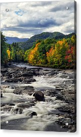 Acrylic Print featuring the photograph Ausable River Jay Ny by Mark Papke