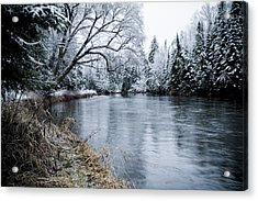Ausable Winter Acrylic Print by Todd Bissonette