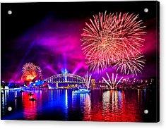 Aussie Celebrations Acrylic Print by Az Jackson