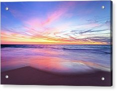 Acrylic Print featuring the photograph Aussie Sunset, Claytons Beach, Mindarie by Dave Catley