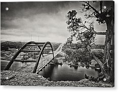 Austin 360 Bridge In Early Dawn Acrylic Print by Lisa  Spencer