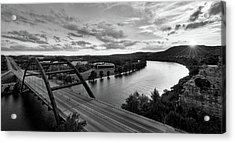 Austin 360 Pennybacker Bridge Sunset Acrylic Print