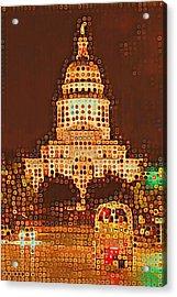 Austin Capitol At Night Acrylic Print