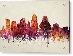 Austin Cityscape 09 Acrylic Print by Aged Pixel