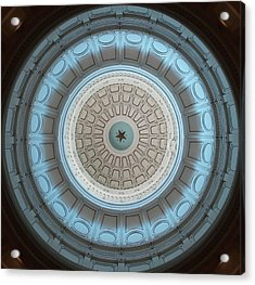 Austin Capitol Dome In Gray And Blue Acrylic Print