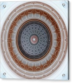 Austin Capitol Dome In Gray And Brown Acrylic Print