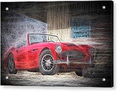 Austin Healey Chalk Study 4 Acrylic Print