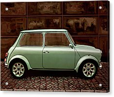 Austin Mini Cooper Mixed Media Acrylic Print