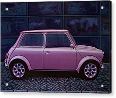 Austin Mini Cooper 1964 Painting Acrylic Print by Paul Meijering