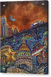 Acrylic Print featuring the painting Austin Montage by Patti Schermerhorn