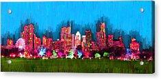 Austin Skyline 153 - Pa Acrylic Print