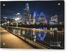 Austin Skyline At Night In Austin Texas Acrylic Print by Paul Velgos