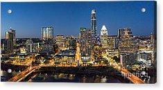 Austin Skyline At Night Acrylic Print by Tod and Cynthia Grubbs