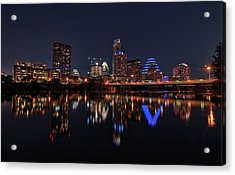Austin Skyline At Night Acrylic Print
