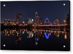 Austin Skyline At Night Acrylic Print