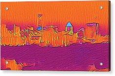 Austin Skyline Electric Acrylic Print