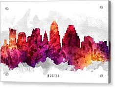 Austin Texas Cityscape 14 Acrylic Print by Aged Pixel