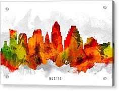 Austin Texas Cityscape 15 Acrylic Print by Aged Pixel