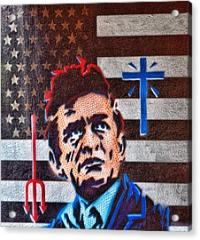 Austin Texas Johnny Cash Mural Acrylic Print