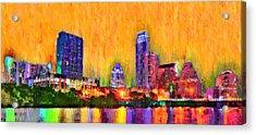 Austin Texas Skyline 109 - Da Acrylic Print by Leonardo Digenio