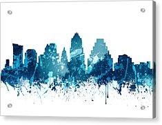 Austin Texas Skyline 19 Acrylic Print by Aged Pixel