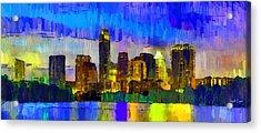 Austin Texas Skyline 204 - Da Acrylic Print by Leonardo Digenio