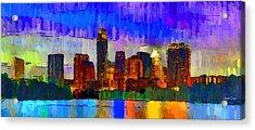 Austin Texas Skyline 208 - Da Acrylic Print by Leonardo Digenio