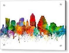 Austin Texas Skyline 21 Acrylic Print by Aged Pixel