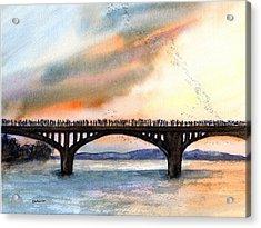 Austin, Tx Congress Bridge Bats Acrylic Print