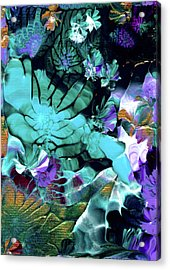 Australian Emerald Begonias Acrylic Print