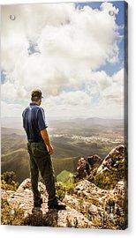 Australian Explorer Sightseeing Mt Zeehan Acrylic Print