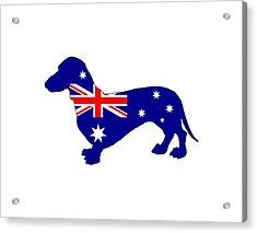 Australian Flag - Dachshund Acrylic Print