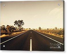 Australian Rural Road Acrylic Print by Jorgo Photography - Wall Art Gallery